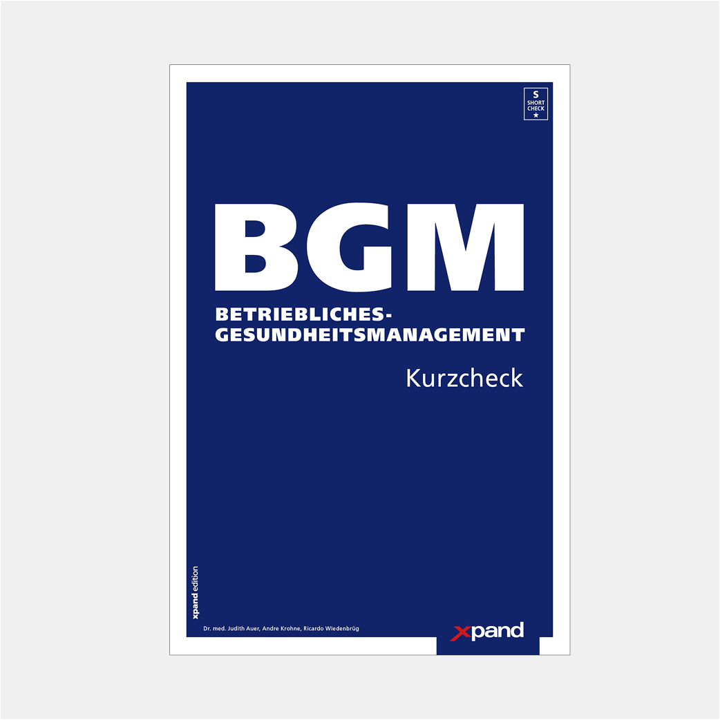 BGM Kurzcheck - Betriebliches-Gesundheitsmanagement
