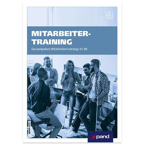 Mitarbeitertraining – Komplett | Kofferbox mit den Heften 01-09